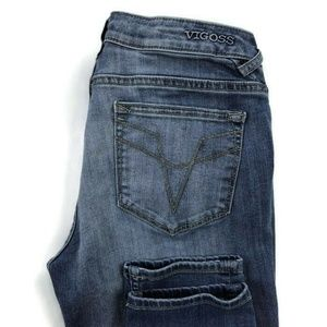 Vigoss The Chelsea Skinny Blue Distressed Jeans